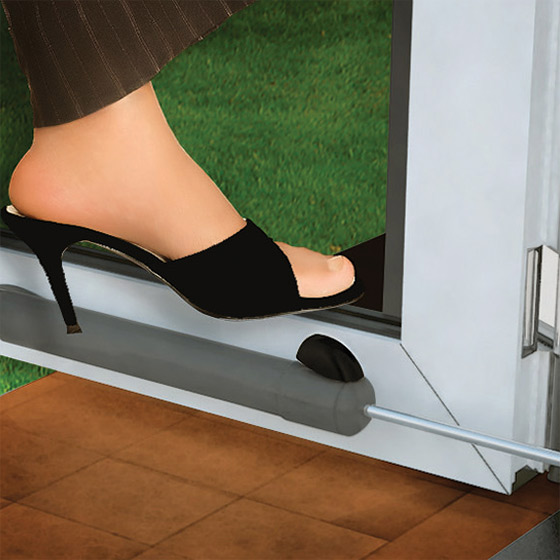 To Make the Door Stay Open - Open the door \u0026 tap the button with foot ... & Touch \u0027n Hold Smooth Storm Door Closer - Single Kit
